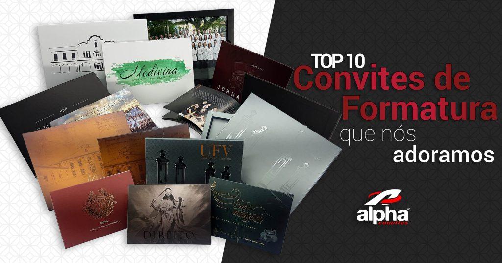 Top 10 Convites de Formatura