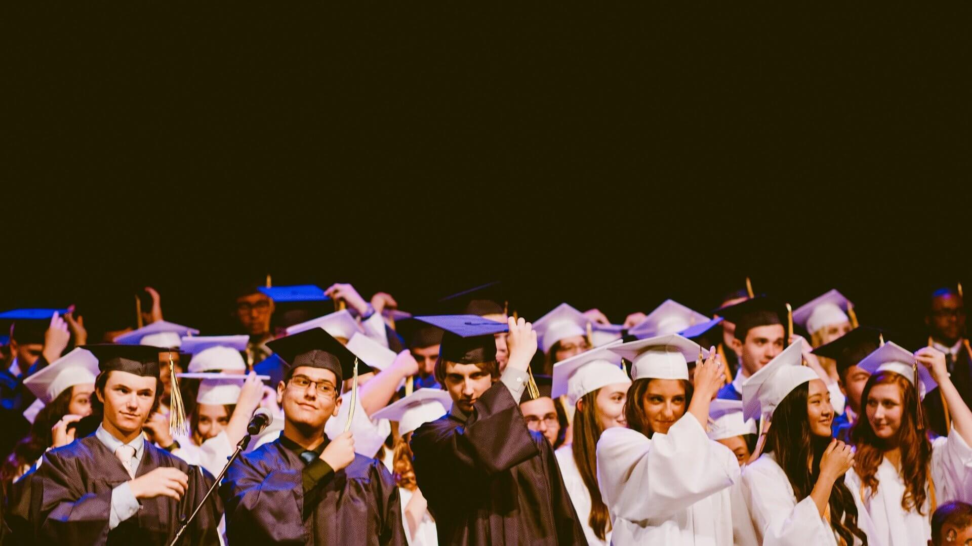 Formandos na colação de grau
