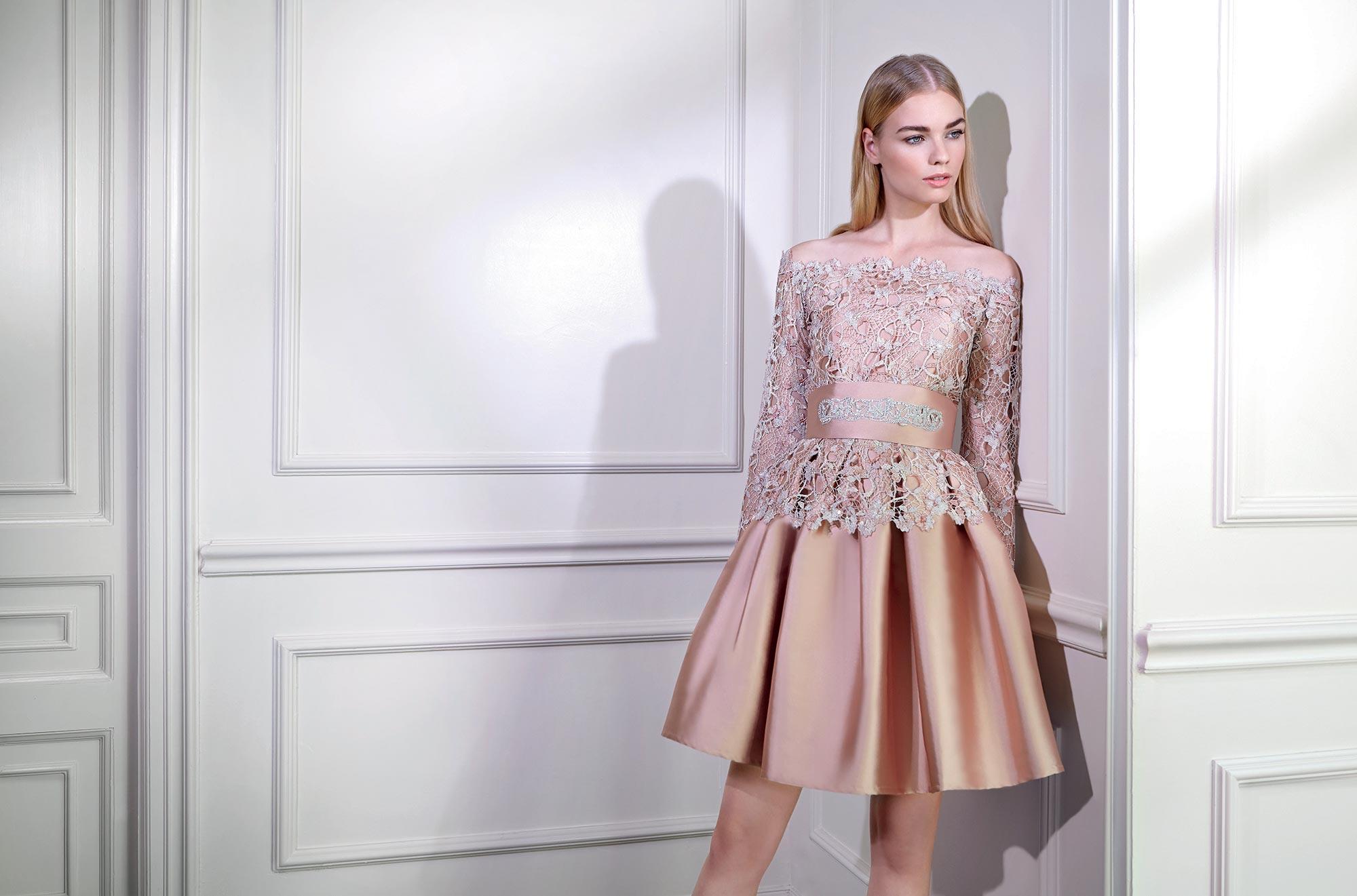 Vestido de Formatura curto rendado