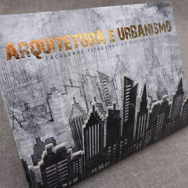 Convite de Formatura de Arquitetura e Urbanismo Modelo Sketch